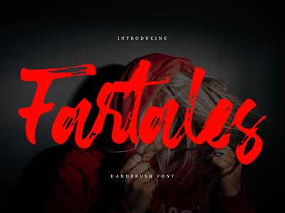 Fartales Font typeface handdrawn webfont logotype branding script brush fartales