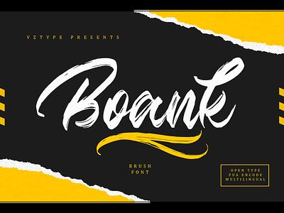 Boank Font handwritten brandname decorative foundry logotype branding brush script boank