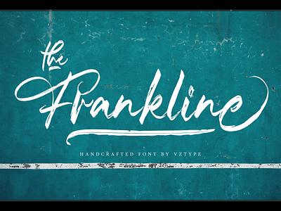 The Frankline Font brush webfont font modern typeface logotype branding handcrafted script the frankline