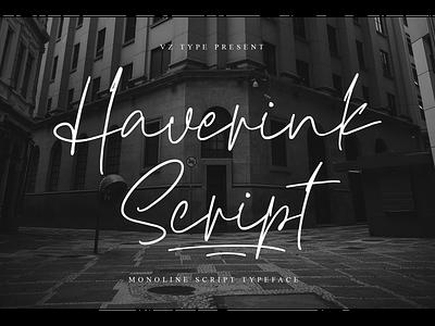 Haverink Script Font monoline font logotype branding handwritten script haverink