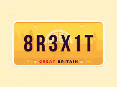GB license plate