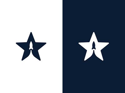 Superum logo dark night rocket star dark blue corporate identity branding logo