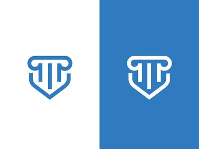 Prevence Legal logo mark minimalist simple solid prevention legal law blue corporate identity branding logo