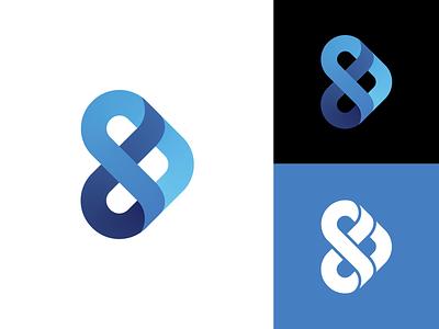 D + S mark vector identity cyan gradient mark icon logo flat branding simple blue minimalist