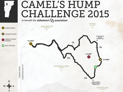 Camel's Hump Challenge Map