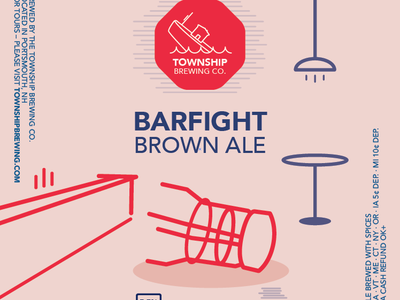 Township Brewing Co. Barfight Brown Ale brewing beer company branding bottle design