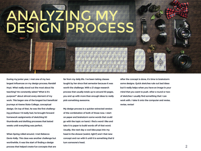 Blog Book - Design & Develop thoughts design catalog process