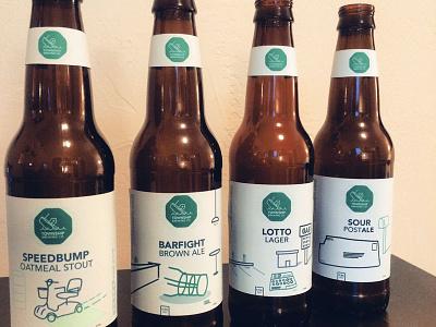 Township Brewing Co. beer brewing label mockup flat design mocked-up