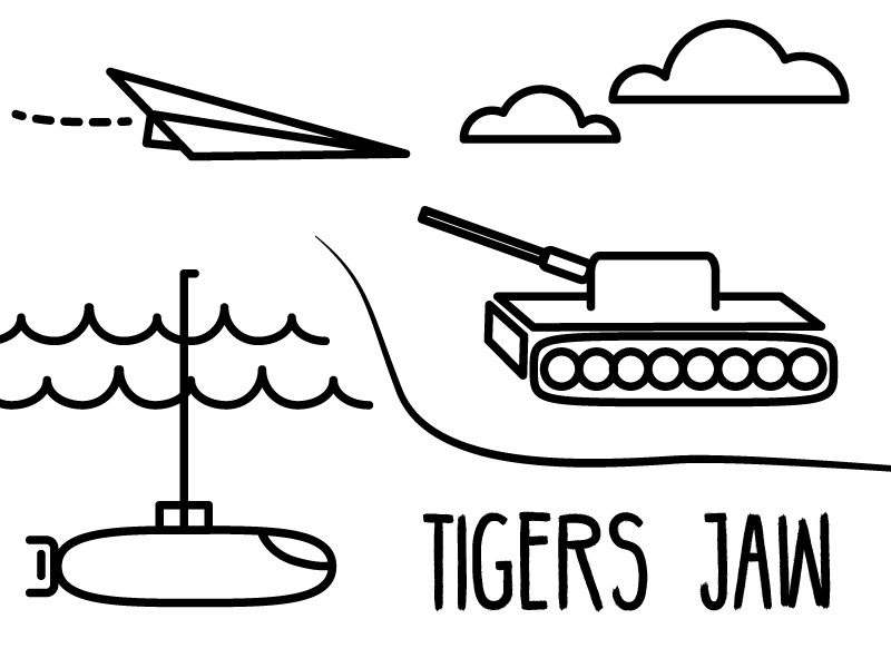 A little fun with Planes, Tanks, and Submarines illustration tigers jaw