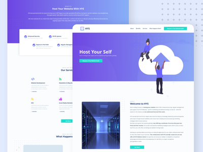 Web Hosting - Website Landing Page Design graphic design gradient creative clean clean design hosting website hosting company hosting service hostingdesign hostingdesign host ui design web design hosting design hosting