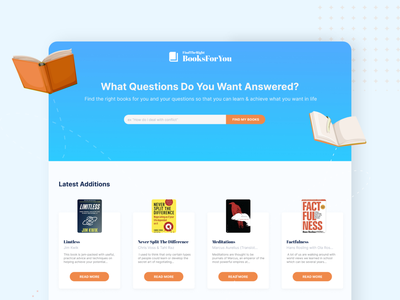 Book Shop Web Design gradient ui creative clean ui design adobe xd book design book landing page book website bookdesign book cover design book clean design