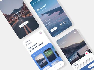 Travel App Visual Exploration ux design userexperience userexperiance ui uiux travel app interaction design illustration exploration app