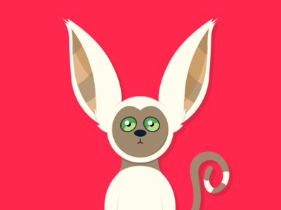 Momo 😍 animal face cute adobe graphic design the last airbender avatar momo vector art art vector illustration