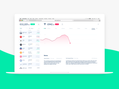 Wellth Web 🌐 finance fintech trading cryptocurrency shares stocks wellth wealth management investing react app web