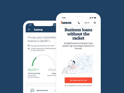 Business loans without the racket 📣 dashboard web design uidesign ux mobile app ui design fintech finance app