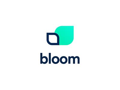 Bloom logo mark 🌼 branding vector logo investing stocks shares mobile app app fintech finance