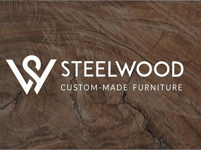 STEELWOOD LOGO DESIGN flat minimal vector design logo
