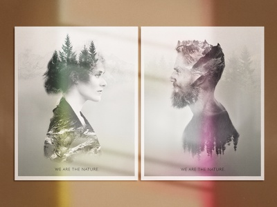 We Are the Nature - set of posters doubleexposure poster design poster design