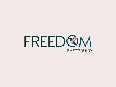 Freedom logo design logo design
