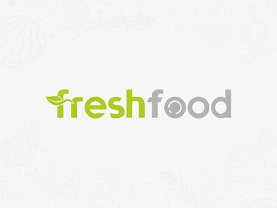 FreshFood simple logo logo design design logo