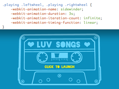 Casette Tape the many faces of lionel richie html5 css3 webkit-transiition webkit-animation jplayer jquery
