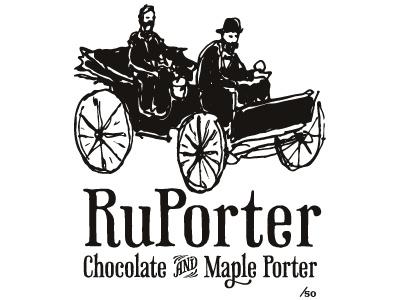RuPorter (final) beer label phaeton monochrome screenprint
