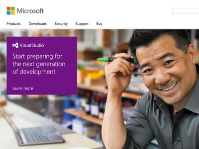 A new, responsive Microsoft.com homepage microsoft segoe segoe ui visual studio