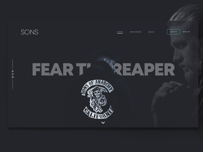 Sons of Anarchy Landing Page web site website design webdesign website sons of anarchy ui  ux uidesign ux ui minimalist minimal landing page ui landing pages landingpage landing design illustrator illustration graphic design design fan page