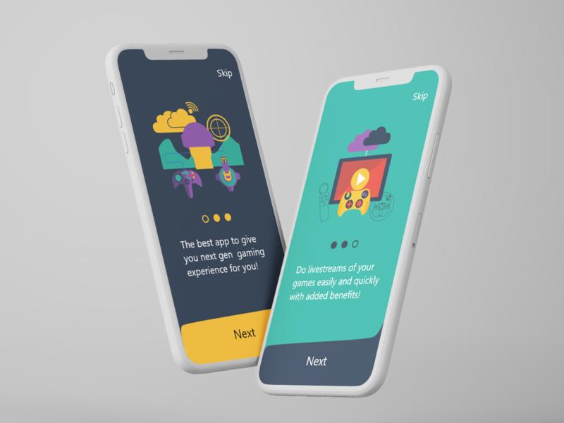 Gamer ui ux app design