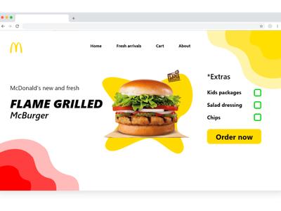 McDonald's website web ux app ui design
