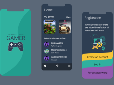 Gamer gaming ux app ui design
