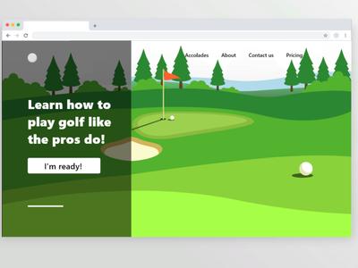 Golf sports golf website web ux ui design