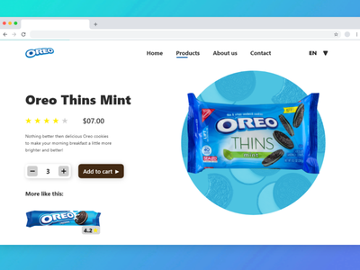 Oreo biscuits website web ux app ui design