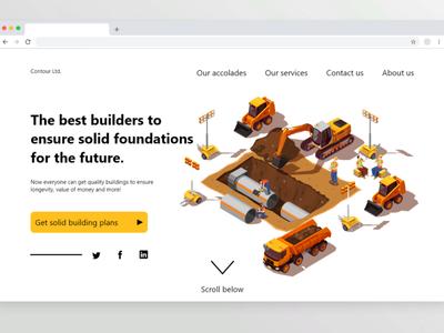 Web UI exploration construction website web ux ui design