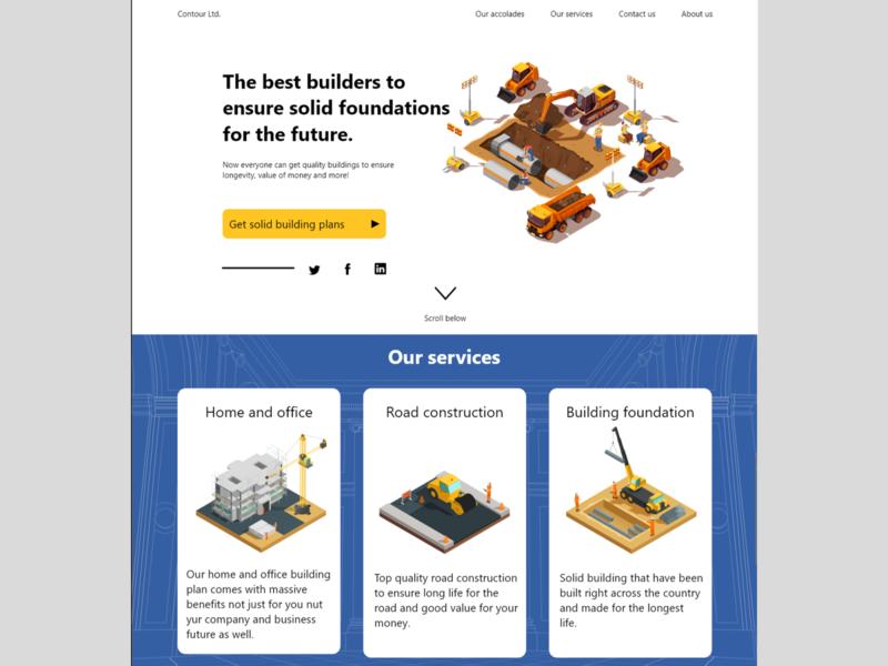 Web UI exploration 02 construction website web ux ui design