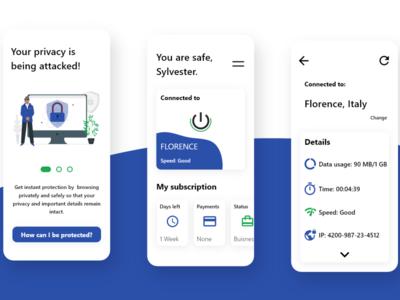 VPN app exploration vpn ux app ui design
