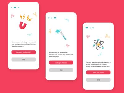 Chemistry teacher(Intro) intro chemistry ux app ui design illustration