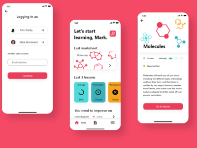 Chemistry teacher ux app ui design