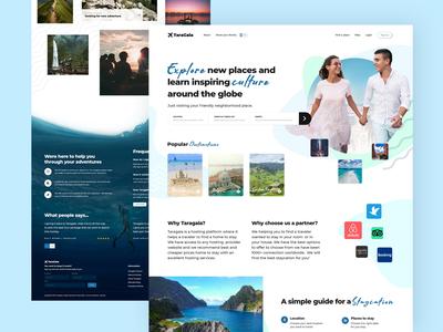 Taragala hosting hiking adventure travel ux ui website web design branding