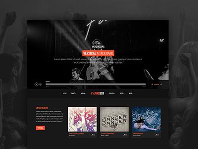 Jukebox  web design music band website