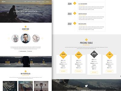 MePro - personal portfolio template template vcard personal portfolio website