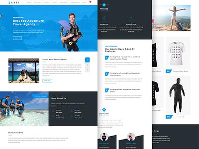 Sail - Scuba diving HTML template   design water sea diving web design ui html