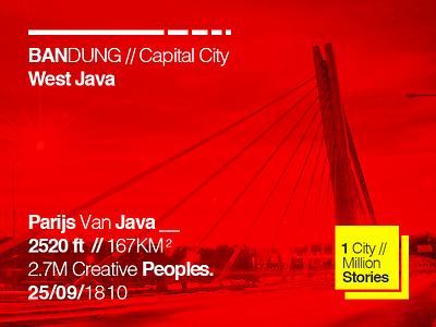 Bandung bandung infographic city helvetica typography