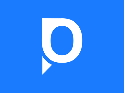 My Personal Logo typography blue illustration logo