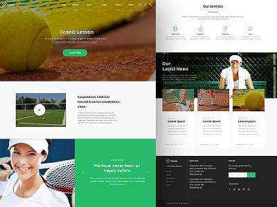 Tennis Web  ui design website graphic design ui uiux web design
