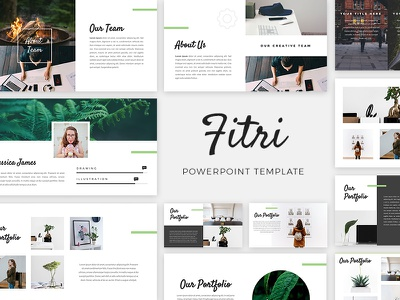 Fitri PowerPoint Template presentation pitch deck creative presentation template powerpoint