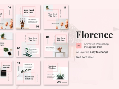 Florence - Animated Instagram Posts Template business photoshop creative social media templates social media social media post photoshop instagram posts instagram creative instagram posts post posts instagram post. instagram posts