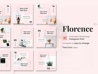 Florence - Animated Instagram Posts Template
