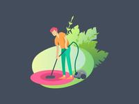 cleaning illustration ui illustration
