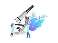 microscope icon illustration